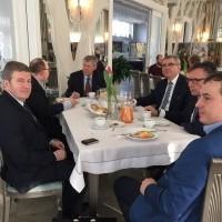 Spotkanie biznesowe z udziałem przedstawicieli firm zainteresowanych inwestycjami w Austrii.