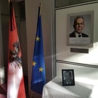 Ambasada Austriiuczciła minutąciszypamięćo zmarłym dr. Aloisym Mocku