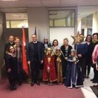 Kolędnicy z wizytą w Ambasadzie Austrii